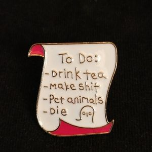 To-do list pin - pets and naps!